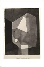 PAUL KLEE - ROUGH CUT HEAD vintage painting art poster GEOMETRIC 24X36 new