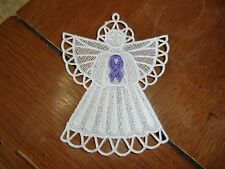 Embroidered Magnet - Christmas - Pancreatic Cancer Angel