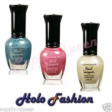 Kleancolor Holo-Fashion Collection Nail Polish Lot of 3 Colors Set Lacquer
