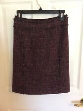 Ann Taylor  Womans Skirt, Size 0P, Plum Color, Tweed Look, Sharp Looking Skirt!