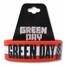 GREEN DAY AMERICAN IDIOT RED/WHITE STRIPE WRISTBAND MUSIC BAND NEW OFFICIAL