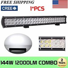 23in 144W CREE LED Work Light Bar COMBO MOTOR Offroad Fog 4X4 Lamp TRACTOR CAR