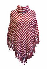 Ladies Knitwear - NEW Cowl Neck Soft Winter Poncho *UK Pro-Seller*Fast Dispatch*