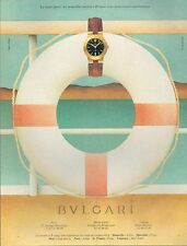 ▬► PUBLICITE ADVERTISING WATCH MONTRE BULGARI 1994 Ligne Sport