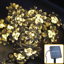 20LED 5M Warm White Solar Power Flower Fairy String Lights Xmas Lighting Outdoor