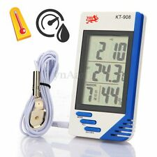 Digital LCD Humidity Hygrometer Thermometer Temperature Meter Indoor Outdoor C/F
