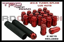 24 RED SPLINE LUG NUTS +2 KEYS | 12X1.5 | TOYOTA FJ TUNDRA 4RUNNER TACOMA