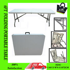 NEW 6ft 1.8M RECTANGULAR FOLDING TABLE CAMPING PICNIC PARTY PORTABLE OUTDOOR