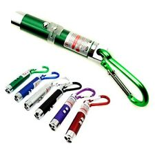 3 in 1 Portable LED Laser Torch Beam Light Flashlight Pen Pointer Keychain UK