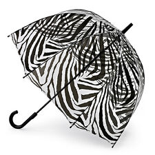 Fulton Birdcage 2 Dome Shaped Ladies Walking Length Umbrella Zebra