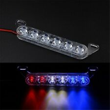 6 LED Motorcycle Brake Strobe Light Car Truck Lamp Police Warning Bulbs Red Blue
