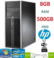 HP 8200 TORRE PC RÁPIDO QUAD CORE i5 3.10GHz 8GB RAM 500GB WiFi BARATO ORDENADOR