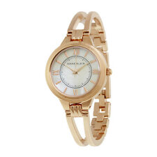 Anne Klein Mother of Pearl Dial Rose Gold Bangle Ladies Watch 1440RMRG