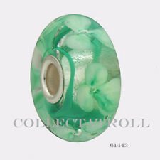 Authentic Trollbeads Stelring Silver Glass Forest Anemones TrollBead  61443