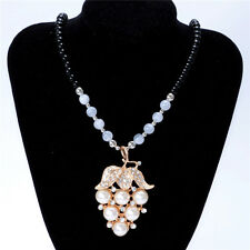 Women's Vintage Grape Fashion Jewelry Hot Charm Crystal Pendant Necklace NEW B2