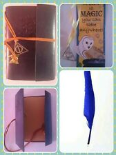 Harry Potter Style Ravenclaw Journal/Notebook/Diary with Feather Pen + Bookmark