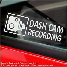 5 x DASH CAM Recording Warning Stickers-30mm CCTV Signs-Car,Taxi,Mini Cab Van