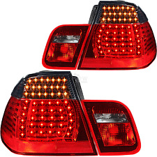 LED tail lights Set 4 pieces 3 BMW E46 Saloon Built 01-05 red smoke black