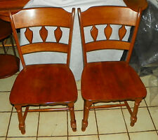 Pair of Heywood Wakefield Maple Sidechairs / Dinette Chairs  (SC256)