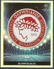 PANINI UEFA CHAMPIONS LEAGUE 2009-10- #515-OLYMPIACOS TEAM BADGE-SILVER FOIL