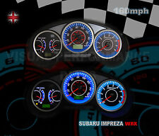 SUBARU IMPREZA WRX SPEEDO + HEATER PLASMA GLOW WHITE DIAL KIT DASH LIGHTING