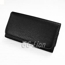 Leather Case Cover Pouch Holster with Belt Clip For HTC ONE M7