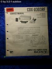 Sony Service Manual CDX U303RF CD Changer (#3495)