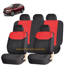 RED ELEGANT AIRBAG COMPATIBLE SEAT COVER SET for HONDA PILOT CIVIC