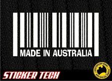 MADE IN AUSTRALIA STICKER DECAL 4 HOLDEN FORD SS V8 UTE