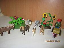 Playmobil 6 Ponys + Pflerger & Landschaft  für ZOO oder Tierpark  NR:62 TOP TOP