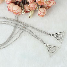 2Hot Film Harry Potter The Deathly Hallows Triangle Pendant Necklace For Cosplay