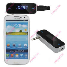 Universal 3.5mm In-Car Handsfree LCD Audio Music FM Transmitter For Smartphone Y