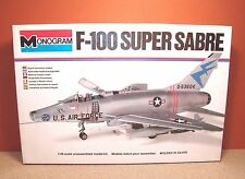 1/48 MONOGRAM F-100 SUPER SABRE MODEL KIT # 5416 MISSING DECALS