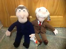 A PAIR OF MUPPETS GRUMPY OLD MEN WALDORF AND STATLER SOFT TOYS NEW TAGS