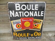 plaque Belge  émaillée ancienne boule nationale boule d or