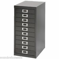 2 x BISLEY - 10 MULTI DRAWER FILING CABINETS - BRAND  NEW - BLACK