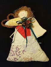 Angel Doll decor Handmade from Old Quilt  Country