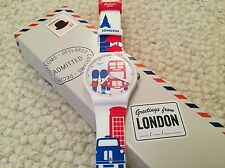 "SWATCH GREETINGS FROM LONDON ""11H30AM"" DESTINATION SPECIAL WATCH SUOZ231"