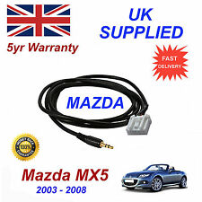 Mazda MX5 AUX 3.5mm Input Audio cable High Quality Sound model year 03-08