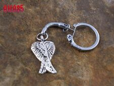 Guardian Angel Wings Keyring, Handmade Angel Protection Charm, Collectable NEW