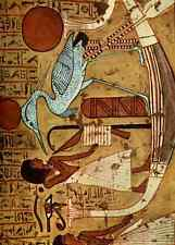 A4 Photo Ancient Egyptian Wall Paintings 1956 Tomb of Irenefer Print Poster