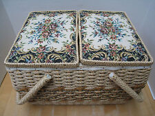 Vintage Singer SEWING BASKET FILLED with NOTIONS too much to list! REDUCED!