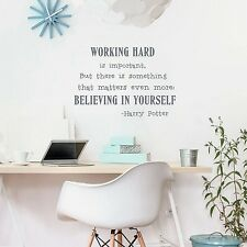 Believe in yourself Wall Art Sticker Harry Potter Quotes Vinyl Wall Decals Fo...