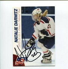Natalie Darwitz US Olympic Hockey Silver Bronze Signed Autograph Photo Card