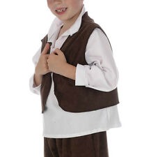 BOYS VICTORIAN WAISTCOAT - BOOKWEEK OLIVER CHIMNEY SWEEP PEASANT AGE 3 4 5 6 7 8