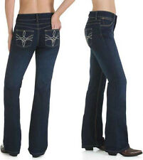 Wrangler 10MWZHS Mae Booty Up Boot Cut Stretch Jeans - Size 11/12=Aus 16