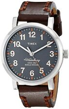Timex Men's TW2P58700AB Originals Stainless Steel Watch with Leather Band