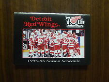 DETROIT RED WINGS POCKET SCHEDULE 1996 MINT L@@K!