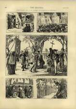 1873 Pilgrimage To Paray-le-monial Sketches Grove Of Apparition