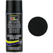 12 x Black Hammer Effect Spray Paint Can Interior Exterior Metal Rust 400ml